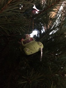 Broken ornament on the tree