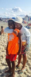 Carter and mom at beach